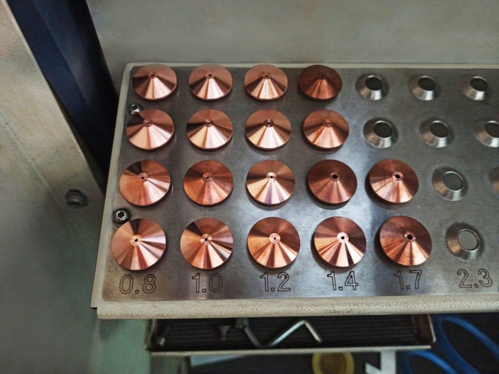 Dysze wykorzystywane podczas procesu cięcia laserem