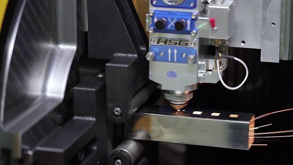 Cięcie profili nierdzewnych wiązką laserową