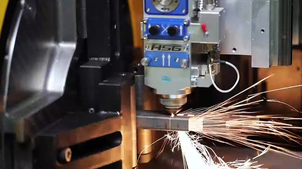 Cięcie profili stalowych laserem Fiber