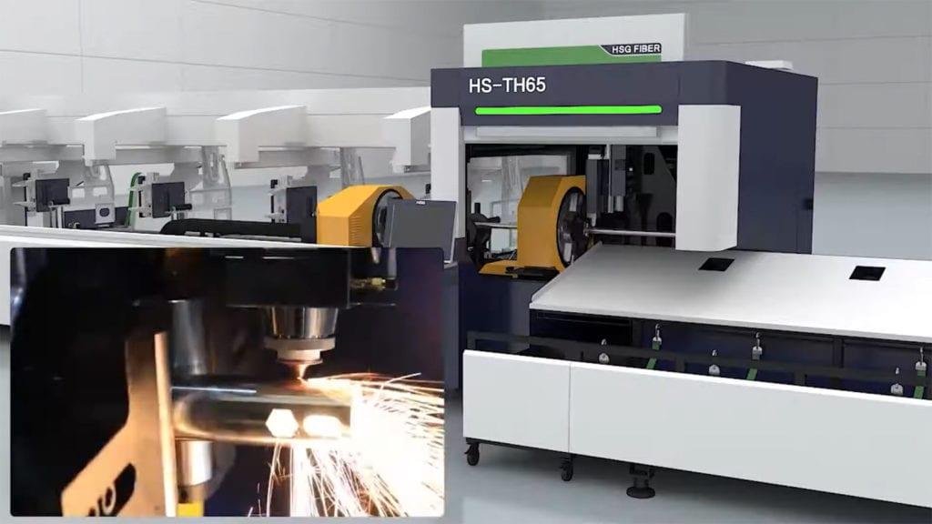 Laser umożliwiający cięcie laserowe rur i profili stalowych, nierdzenych i auminiowych