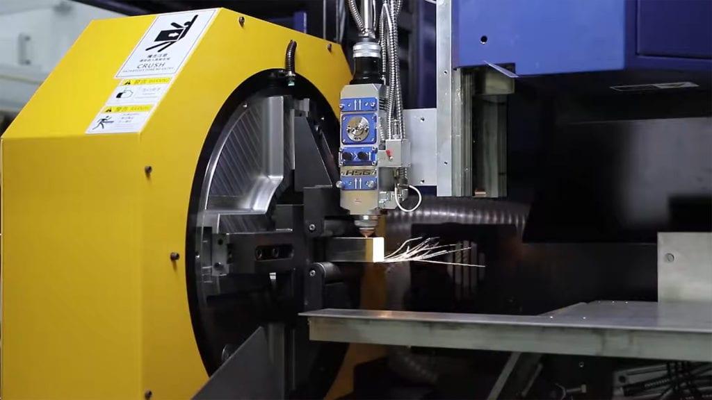 Laserowe cięcie profila stalowego