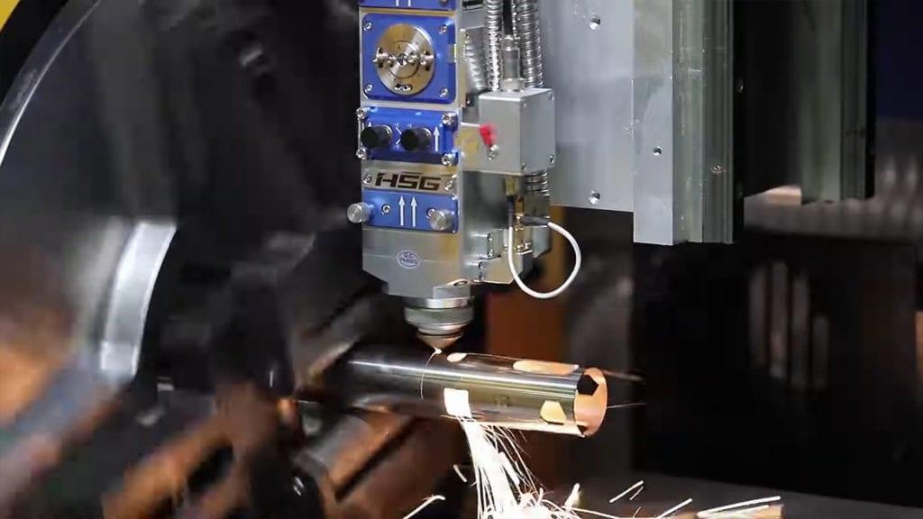 Cięcie profili aluminiowych za pomocą lasera 3d