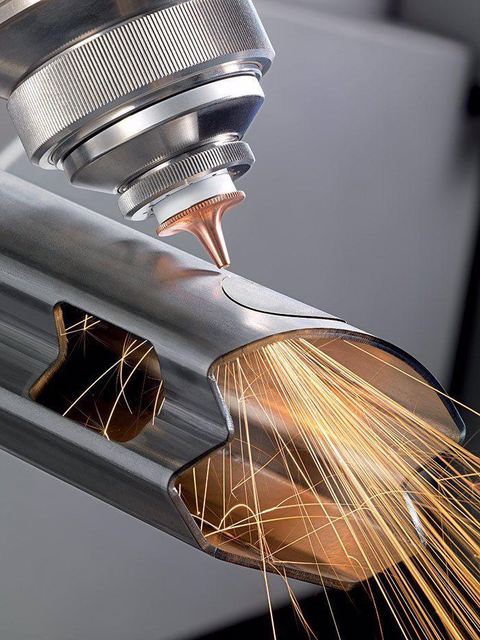 Cięcie laserem rur stalowych